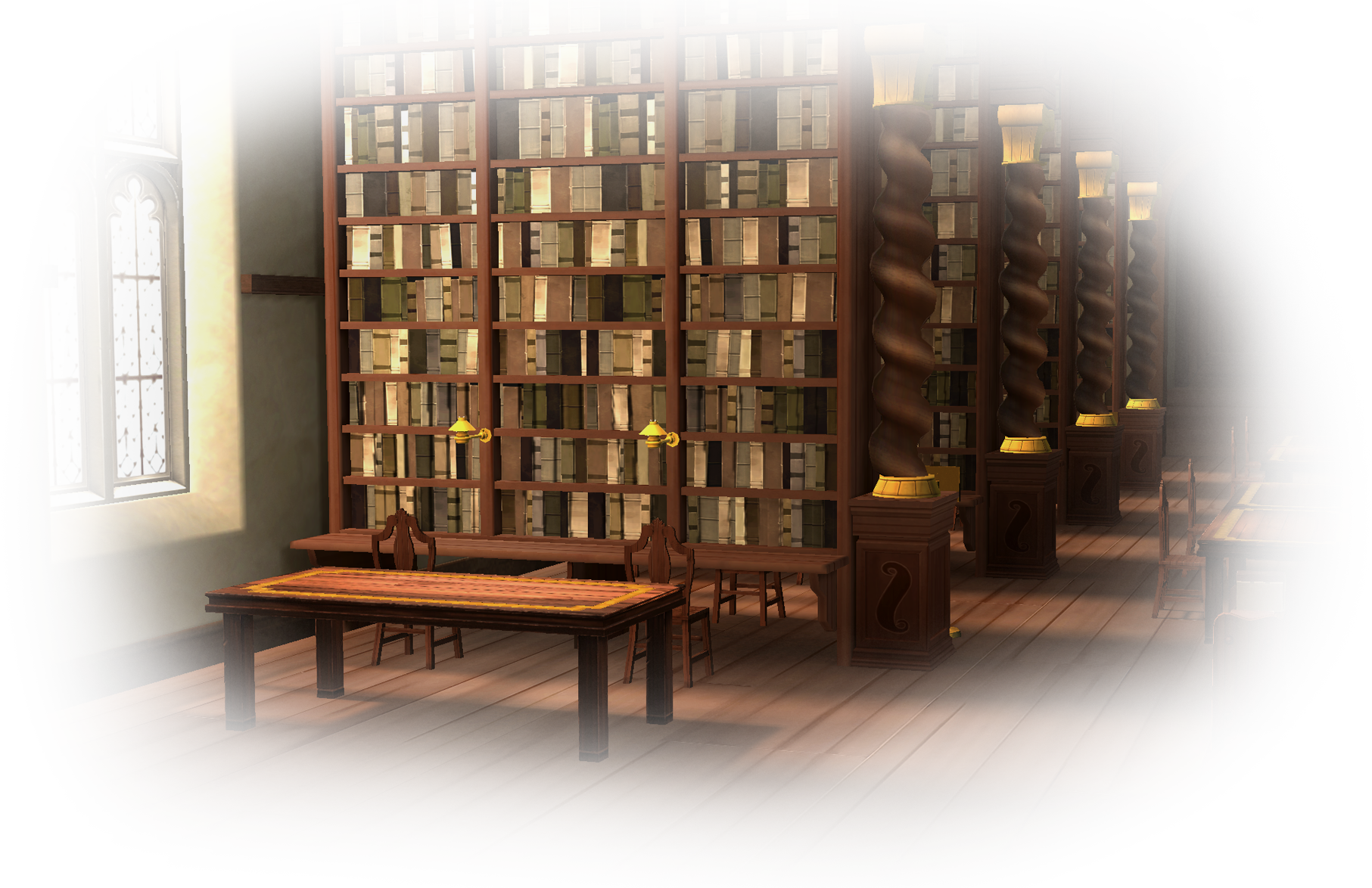 Library in Harry Potter Hogwarts Mystery