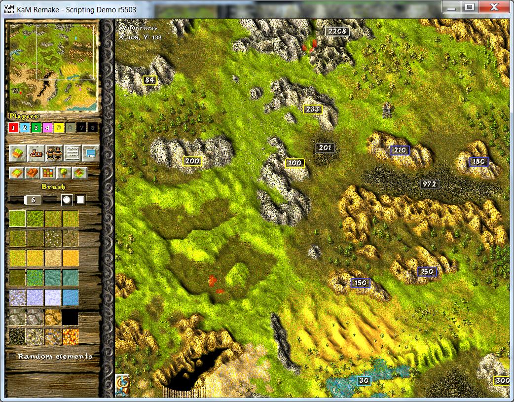 Editor map